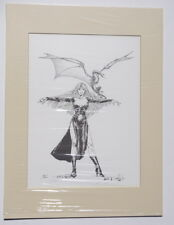 Lela Dowling signed limited edition Dragon and sexy woman print