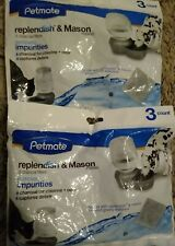 3 Pack Petmate x2 Replendish & Mason Charcoal Replacement Filters 6 Total