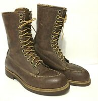 VTG Brown Leather Red Wing? Hunter Heritage USAS Boots 8.5 US 8 Uk Moc steal TOE