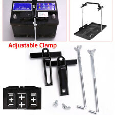 Universal Autos Storage Battery Holder Adjustable Tray+Hold Down Clamp Bracket