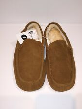 New! Mens Goodfellow & Co. Carlo Suede Driving Slippers Walnut Size 7