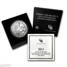 2013-P ATB Mt. RUSHMORE 5 OZ. SILVER SPECIMEN COIN BOX & COA SOLD OUT at MINT