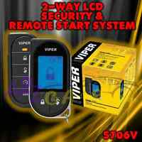 VIPER 5706V 2-WAY CAR ALARM REMOTE START KEYLESS SYSTEM LCD PAGER 5704 REPL 5702