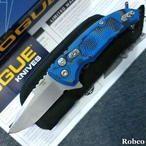 Hogue X1 Microflip CPM-154 Tumbled Blade, Blue G10 G-Mascus Handles 24153-EXLRSR