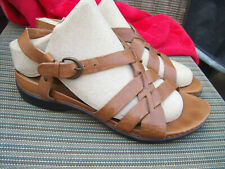 d3b85185bda CLARKS ARTISAN BROWN STRAPPY LEATHER SANDALS SIZE 8.5 WIDE
