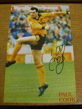 1992/1993 Amp: Wolverhampton Wanderers-Cook, Paul. bobfrankandelvis eBay T