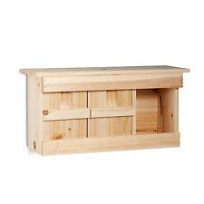 Nistkasten Spatzen mit 3 Nistkammern, Holz, mit Türen, naturfarben Vogelhaus