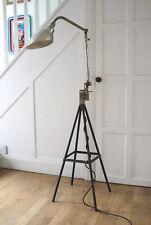 Industrial work lamp stand. Steampunk articulated adjustable standard floor lamp