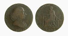 s286_46) HALF PENNY CONDER TOKEN MACCLESFIELD CHARLES ROE (1758) 1791
