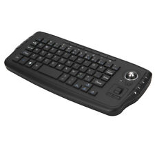 E30 2.4GHz Wireless Keyboard with Trackball Mouse Scroll Wheel Remote A0G0