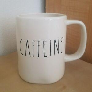 NEW RAE DUNN by Magenta CAFFEINE Coffee Tea Mug Farmhouse Cottage Home Decor