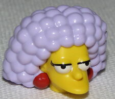 Lego New Yellow Minifig Head Modified Simpsons Selma with Red Earrings