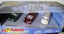 JOHNNY LIGHTNING VOLKSWAGEN'S 3 CAR SET HOLIDAY CLASSIC ORNAMENTS NIB 1:64 2003