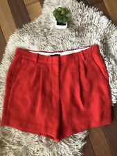 J Crew Red Pleated Crepe High Waist Shorts Womens 6