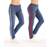 Women Leggings Skinny Slim High Waist Jeans Trousers Denim Stretchy Pencil Pants