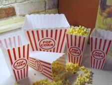 Popcorn Bowl 5pc Set Retro Theatre Movie Bags of Plastic Vintage Look