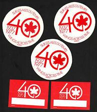 X5 Air Canada TCA 40th Anniversary Peel & Stick Labels