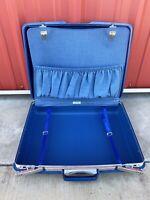 Samsonite Saturn 400 Suitcase, Updated Vintage Luggage! Blue Hard Case