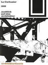 NEW 1922  Ausblick auf eine Architektur (Bauwelt Fundamente) (German Edition)