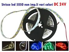 Strisce led 5050 DC24V 75W 5mt.300led vari colori ed RGB non impermeabili