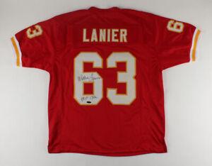 Willie Lanier Signed Kansas City Chiefs Jersey Inscribed HOF 1986 (TriStar Holo)