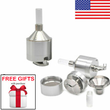 DELUXE+FREE GIFTS Powder Grinder Metal Spice HandMill Funnel Snuff Snorter Vial