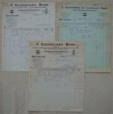 26c❚ 3 Rechnungen Schreibwarenfabrik Soennecken Bonn
