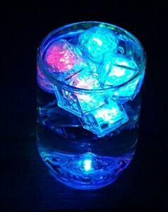 LED Flashing Ice Cubes Hearts Diamonds Light Up Party Wedding Drink Rocks Multi