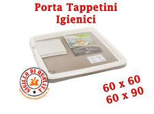 Porta Tappetini Igienici assorbenti Cane 2 Formati 60x60 e 60x90 con 2 tappetini