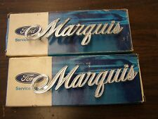 NOS OEM Ford 1969 - 1973 Mercury Marquis Quarter Emblems 1970 1971 1972 Ornament
