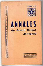 Annales du  Grand Orient de France  -1970 - N°83 - Francs-Maçons