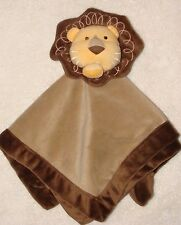 Amy Coe Lion Baby Infant Baby Security Blanket Tan Yellow Brown Plush Toy