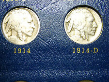 """1914-P/D/S & 1915-P/D/S Buffalo Nickels           """"6 coin Lot""""           (3rd)"""
