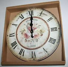 Wall Clock - Pink Roses - Hometime Design 30cm