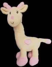 Doudou Girafe BEBISOL Arthur et Lola Rose Fleur NEUF