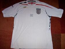 2007 2009 England Home Football Shirt v Germany 22 August 2007 Adults XL