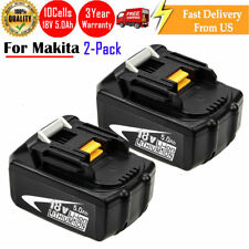 2Pack NEW 18V 5.0AH Lithium-Ion Battery For MAKITA BL1830 BL1815 LXT 400 BL1840