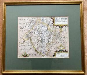 Antique Map of Bedfordshire Comitatus