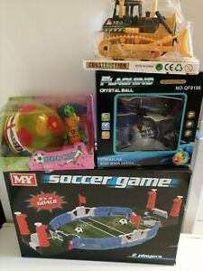 Boys Toys. Revolving Soccer ball,Crystal ball, Bulldozer.Guaranteed Delivery.