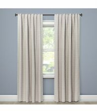 "Project 62 Blackout Curtain Single Panel Natural Doral Indigo 50"" x 84"" Pocket"