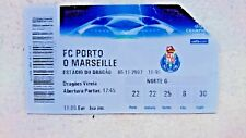 MARSEILLE TICKET FC PORTO OM CHAMPIONS LEAGUE 2007 2008 COLLECTION PORTUGAL