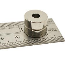 2 pcs 10 mm x 3 mm trou forte 3 mm À faire soi-même Project Round Disque Ndfeb Néodyme Aimants