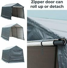 Outdoor Storage Shelter with Roll up Door Storage Shed Portable Garage Tent