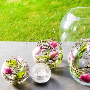 Tischdeko Glasvase Kugelvase Glaskugel transparent
