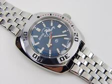 Brutal Automatic amphibian mechanic VOSTOK 200m WR. 2416b. 710059. Diver on blue