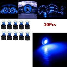 10Pcs T5 PC74 Twist Socket Instrument Panel Cluster Blue Dash Led Light Bulb 12V