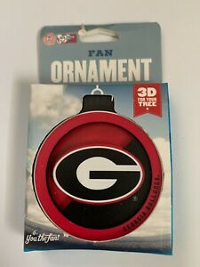 NCAA Georgia Bulldogs 3D Logo Ornament