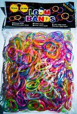 600 Loom Bands Gummiringe Loops bunt mit 24 Verschlusshaken
