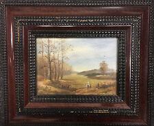 Paysage Champêtre - Tableau huile sur toile XXème - Signé