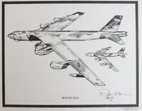 USA B-52 Bomber Aviation Art Airplane Aircraft Print Dale Adkins Stragetic AF